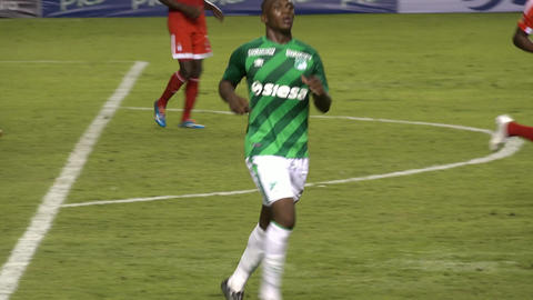 African Soccer Player Running Footage