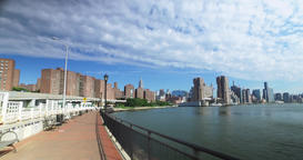 Forward Perspective on East River Bikeway Near Stuyvesant Town Footage
