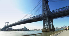 Daytime Establishing Shot Williamsburg Bridge Footage