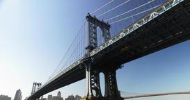 Daytime Establishing Shot Under Manhattan Bridge Footage