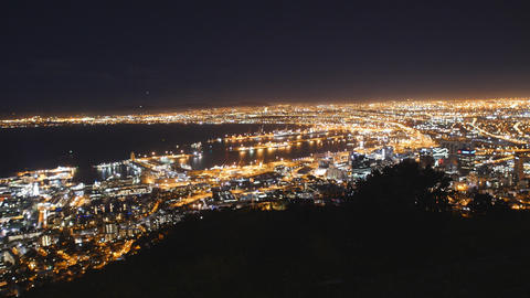 Night View of Cape Town from Signal Hill Live Action