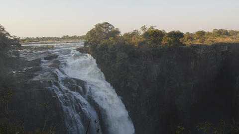 View of Victoria Falls from Zimbabwe side Footage
