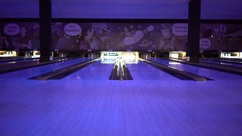 Bowling Playing Footage