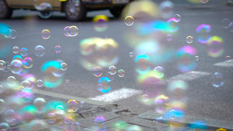 Soap Bubbles In Real Time Dof Footage