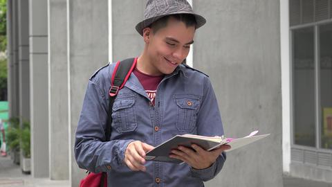 University Student Posing Live Action