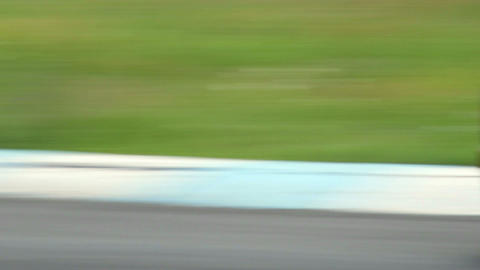 Sport racing cars turning steering on difficult sharp turn with sound Footage