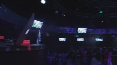 Dj applauding to audience of night club Live Action