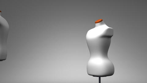 Display Mannequins On Gray Background Animation