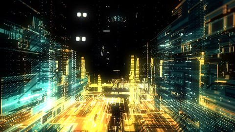 City Cyber Digital Animation