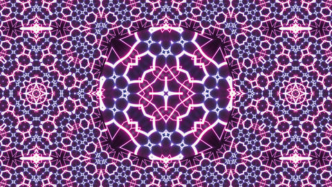 Colorful abstract neon art kaleidoscope animation background CG動画