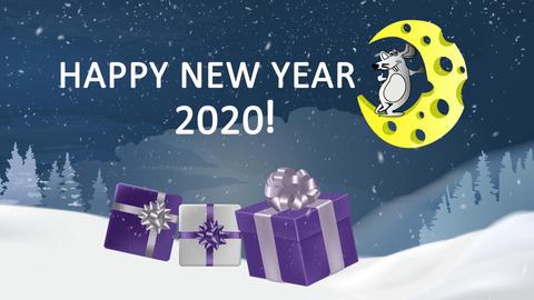 Happy New Year 2020. Opener 프리미어 프로 템플릿