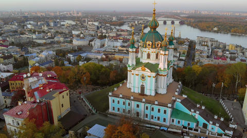 Church of St. Andrew on St. Andrew's Descent, Kiev Live Action
