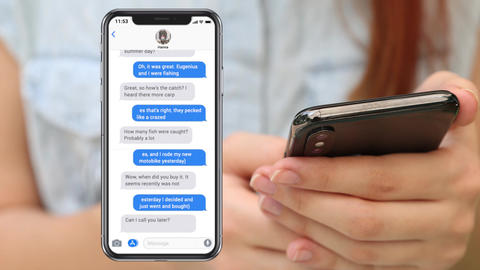 Imessage Iphone Plantilla de Apple Motion