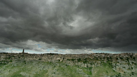 Cloudscape over Matera Live Action