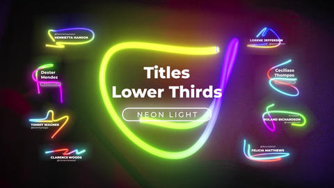 Lower Thirds Neon Titles 3 애플 모션 템플릿