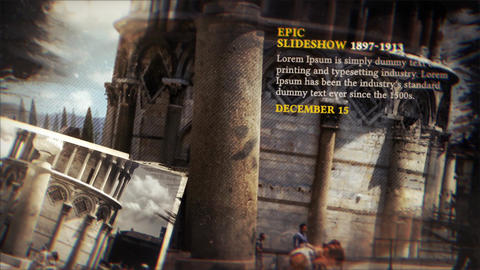 History Timeline Slideshow After Effects Template