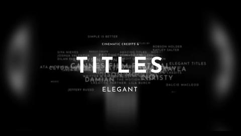 Titles Elegant Cinematic Premiere Proテンプレート