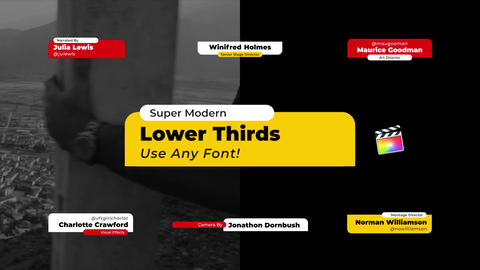 Lower Thirds Modern Apple Motion Template
