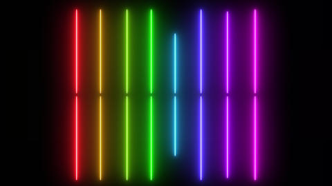spectrum neon electric background, abstract colorful animation 실사 촬영