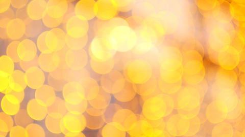 Abstract background from a garland. Yellow bokeh circles Live Action
