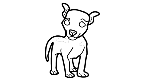 Lamb icon Line Drawing Animation Transparent Background Vector Motion Graphics Loop CG動画