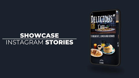 Showcase Instagram Stories After Effects Template
