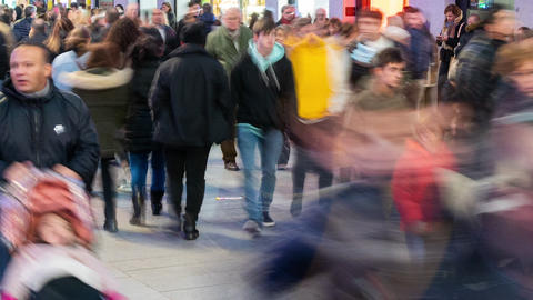 Time lapse of People crowd. Unrecognizable Busy people walking on the street Live Action
