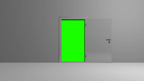 Realistic silver Door opening Animation