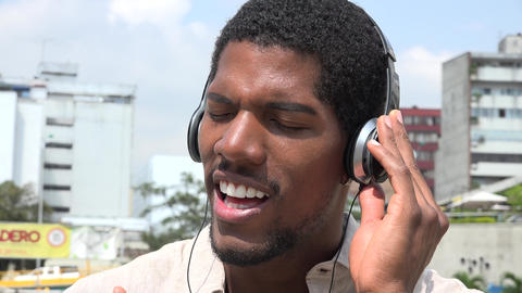 Listening to Music, Headphones, Urban Footage