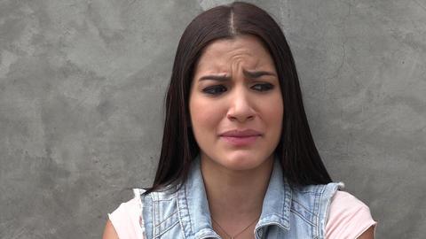 Woman Crying, Sadness, Depression Footage