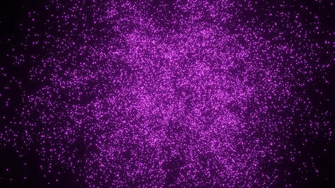 Abstract Purple Particle Simulation on black background. 4k Animation