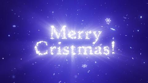 Congratulatory Christmas video card. Decorative snowflakes create a congratulatory inscription. Snow Animation