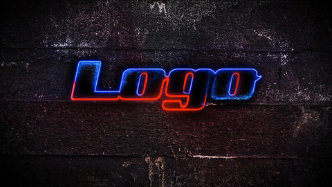 Neon Grunge Logo After Effects Template