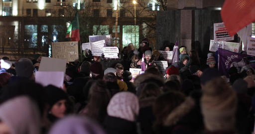 Rally in support of law on domestic violence Live Action