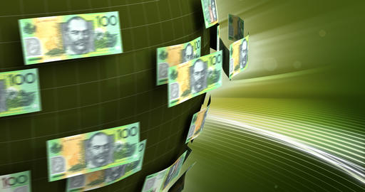 Global Business with Australian Dollar Animation