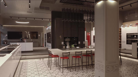 Premium appliance store interior 4K Live Action