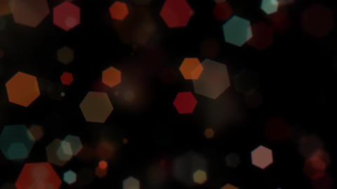 Mov203 particle hexagon glitter loop 02 CG動画