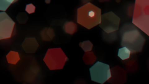Mov203 particle hexagon glitter loop 04 CG動画