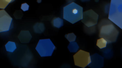 Mov203 particle hexagon glitter loop 09 CG動画