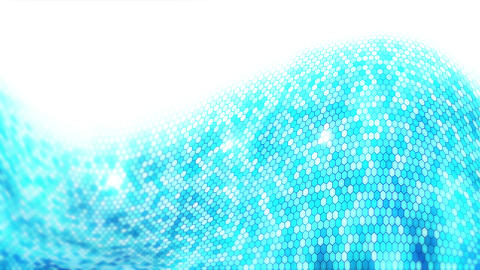 Blue electric lightning honeycomb background. Glowing electric hexagon with shining light. Business Animation