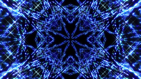 Kaleidoscope illumination neon light E3 4k Animation
