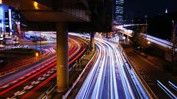 Tokyo Timelapse - Shuto Expressway Light trail Live Action