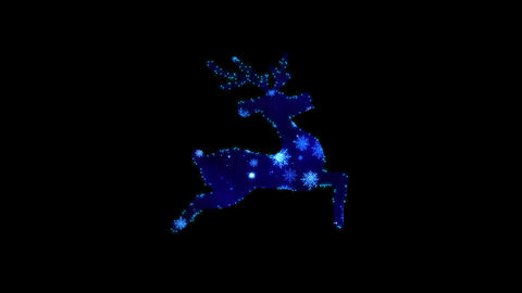Christmas silhouette of Running Deer Animation