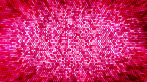 Red electric lightning honeycomb background. Glowing electric hexagon with shining light. Business Animation