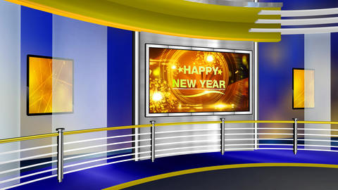 Happy new year curve studio Animation