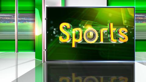 Sports virtual set Animation