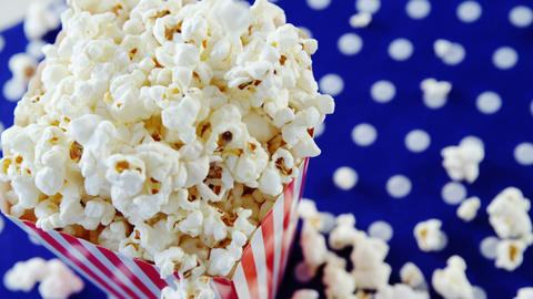 Close-up of popcorn with 4th july theme Live Action