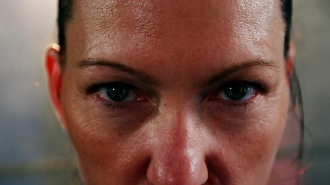 Portrait of aggressive woman Live Action