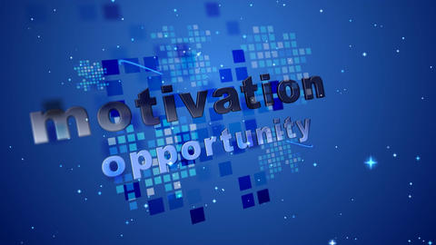 (1095) Motivational Business Messages with Motion... Stock Video Footage