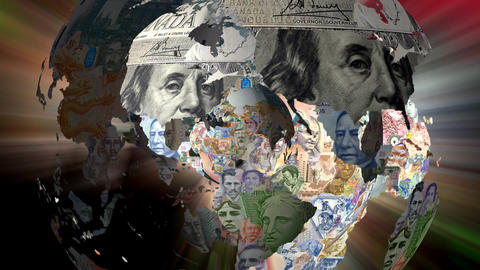 Muliple Maps Currency Stock Video Footage